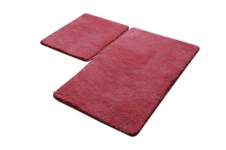 Badrumsmatta Baray 2-pack - Röd - Inredning - Textilier - Badrumstextilier