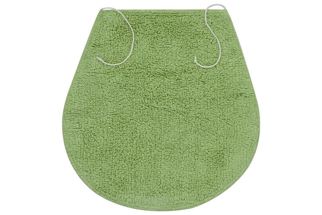 Badrumsmattor 3 st tyg grön - Grön - Inredning - Textilier - Badrumstextilier