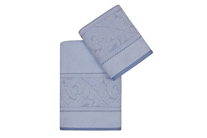Handduk Hobby Set om 2 - Blå - Inredning - Textilier - Badrumstextilier