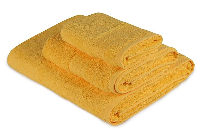 Handduk Hobby Set om 3 - Mörkgul - Inredning - Textilier - Badrumstextilier