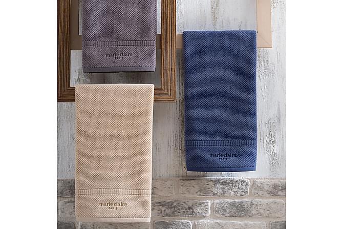 Handduk Marie Claire 50x90 cm - Blå - Inredning - Textilier - Badrumstextilier