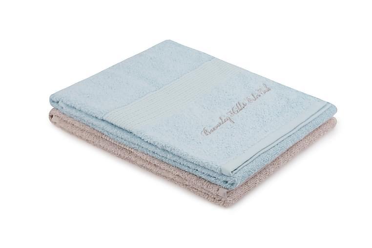 Handduk Romilla 2-pack - Blå/Beige - Inredning - Textilier - Badrumstextilier