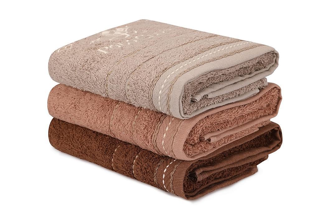 Handduk Romilla 3-pack - Brun - Inredning - Textilier - Badrumstextilier