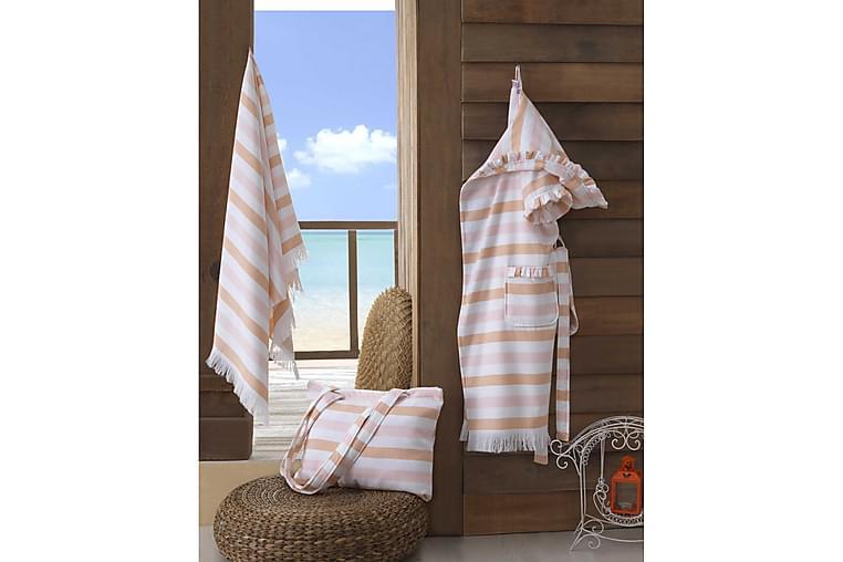 Handduksset Rhuddlan - Rosa/Vit - Inredning - Textilier - Badrumstextilier