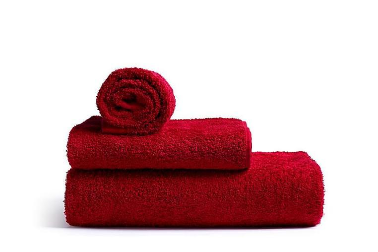 Rode Bath Mafalda frotté handduk medium röd - Rode Bath - Inredning - Textilier - Badrumstextilier
