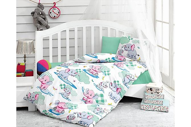 Bäddset Cotton Box Baby 4-dels Ranforce - Vit|Mint|Rosa|Blå - Inredning - Textilier - Barntextilier