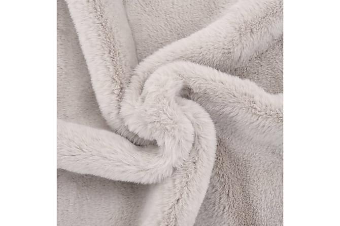Pläd 100x150 cm konstpäls grå - Grå - Inredning - Textilier - Filtar & plädar