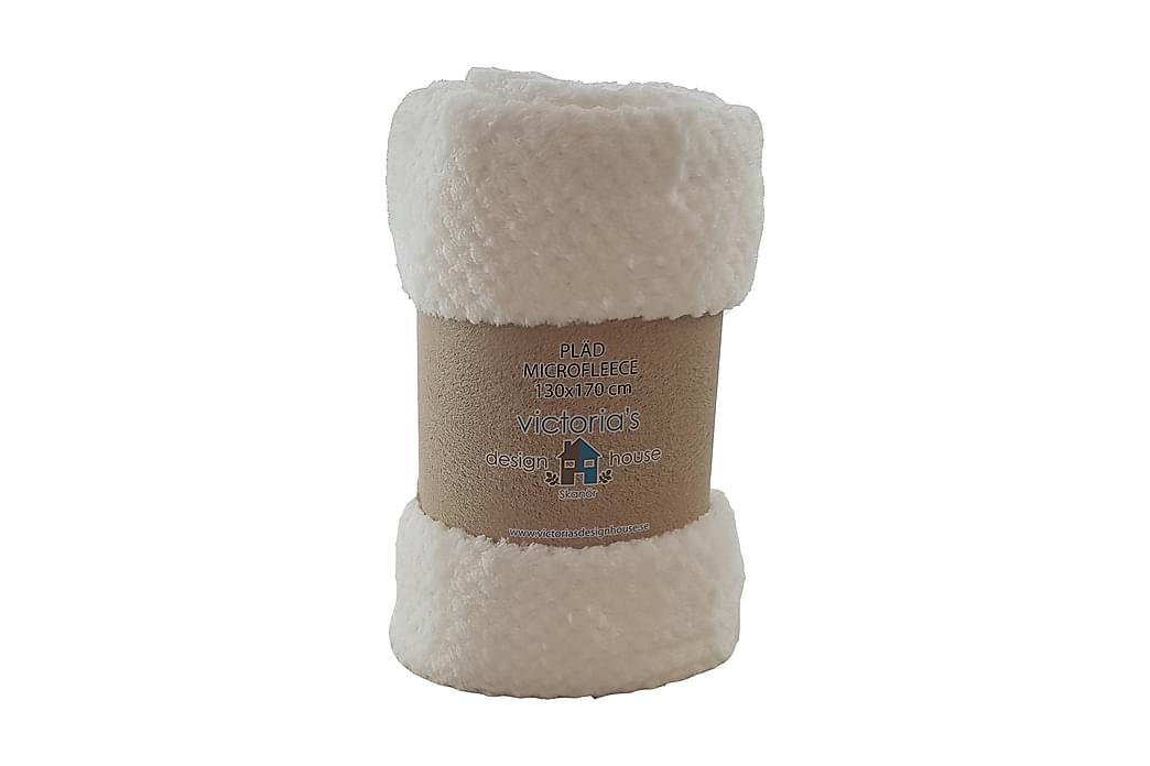 Pläd Fleece Popcorn Vit 130x170 cm 240 - Vit - Inredning - Textilier - Filtar & plädar