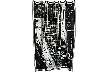 Pläd Manhattan 130x170 cm Svart