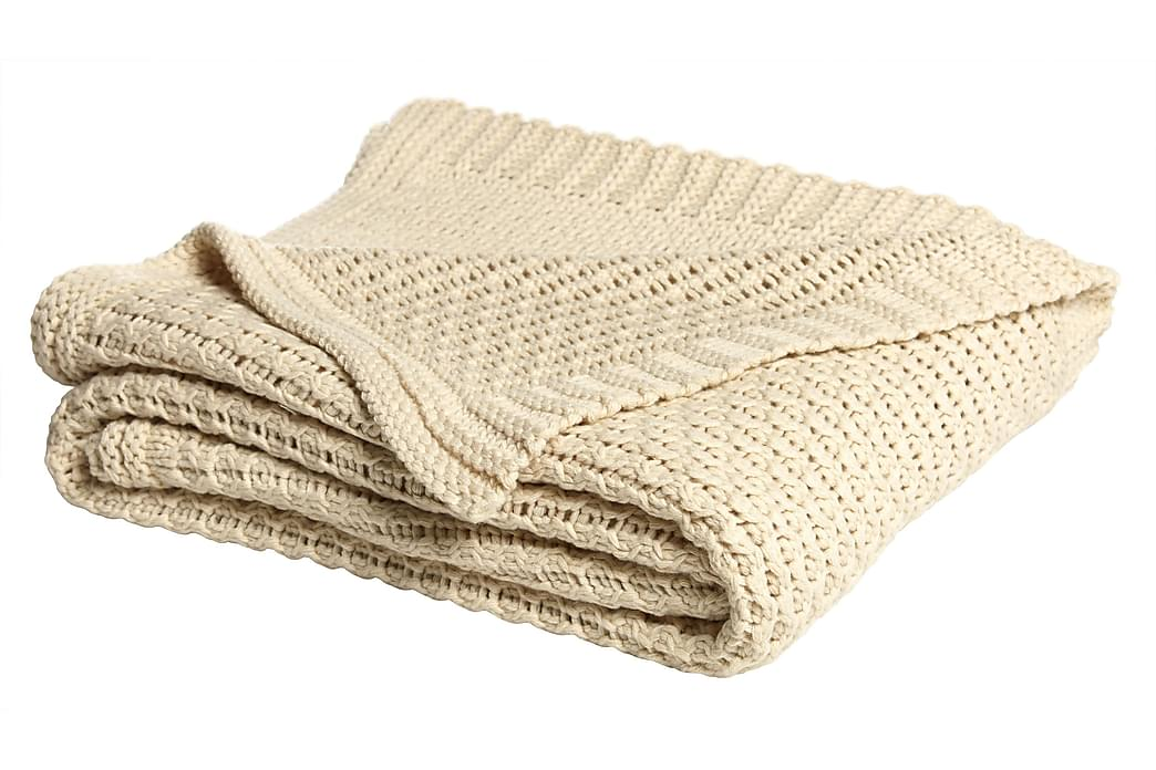 Pläd Sixten 170x130 cm Beige - Mogihome - Inredning - Textilier - Filtar & plädar