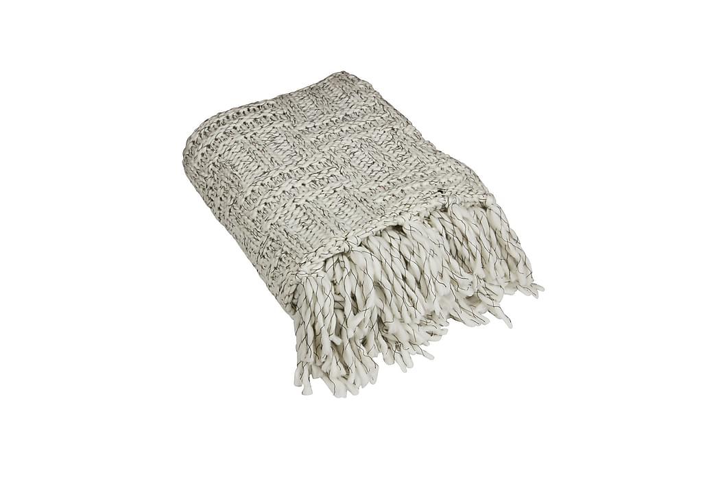 Pläd Smilla 120x150 cm Svart/Vit - Fondaco - Inredning - Textilier - Filtar & plädar