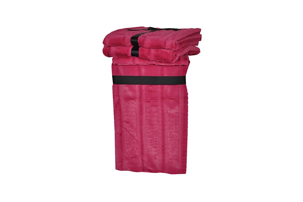 Pläd Sneby 130 cm - Rosa - Inredning - Textilier - Filtar & plädar