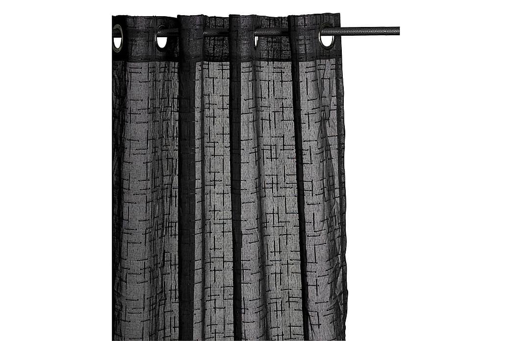 Öljettlängd Faro 140x240 cm Svart - Mogihome - Inredning - Textilier - Gardiner