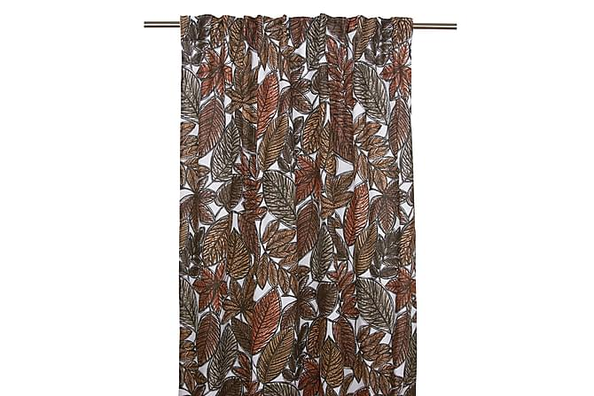 Gardinlängd Löv Multibandslängd 2-pack 120x245 cm Rost - Fondaco - Inredning - Textilier - Gardiner