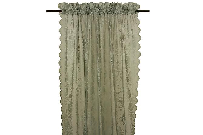 Gardinlängd Lucille Kanallängd 2-pack 240 cm Grön - Fondaco - Inredning - Textilier - Gardiner
