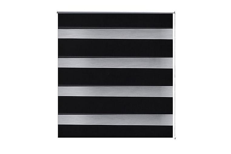 Rullgardin randig svart 40x100 cm transparent - Svart - Inredning - Textilier - Gardiner