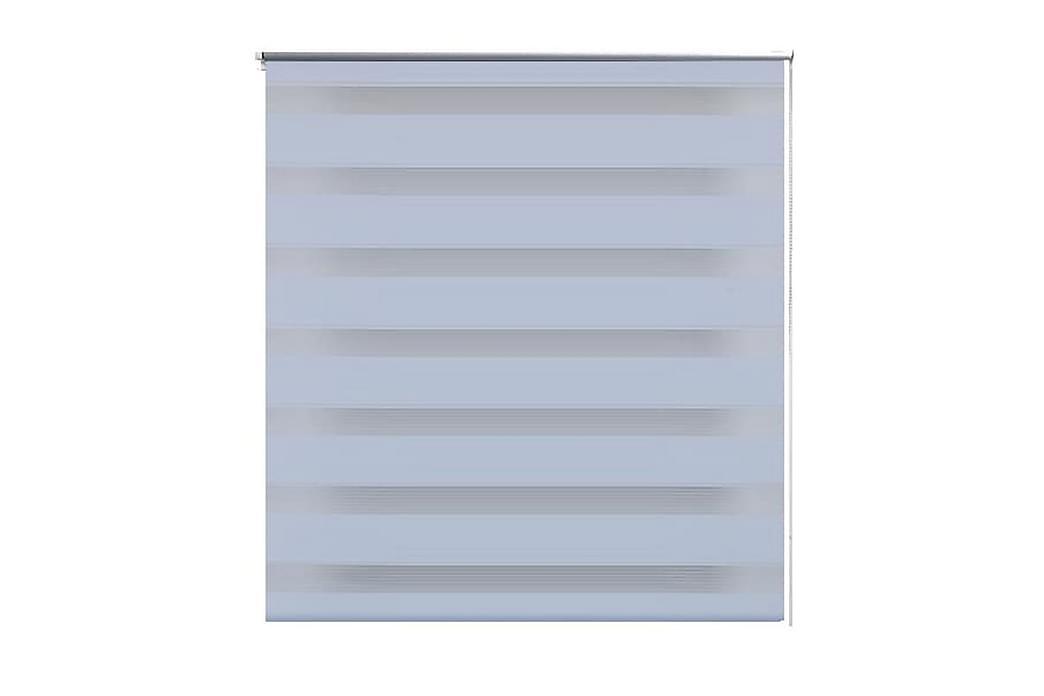 Rullgardin randig vit 120 x 230 cm transparent - Vit - Inredning - Textilier - Gardiner