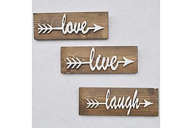 Väggdekoration Arthur Love Live Laugh'