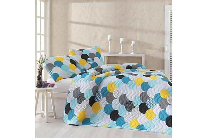 Överkast Eponj Home Dubbelt 200x220+2 Kuddfodral Quiltat - Vit Multi - Inredning - Textilier - Kuddfodral