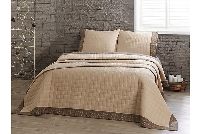 Överkast Marie Claire Dubbelt 240x250+2 Kuddfodral Ranforce - Beige|Brun - Inredning - Textilier - Kuddfodral