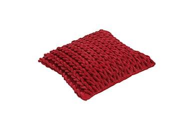 Kuddfodral Rope 45x45 röd