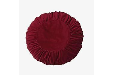 Kuddfodral Tilde 50 cm Rund Sammet Röd