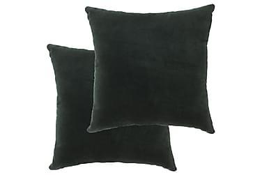 Kuddar 2 st bomullssammet 45x45 cm grön