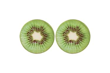 Kuddar 2 st tryck frukt kiwi