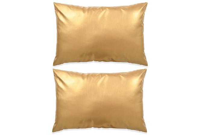 Kudde 2 st PU 40x60 cm guld - Inredning - Textilier - Prydnadskuddar 472038375bc53