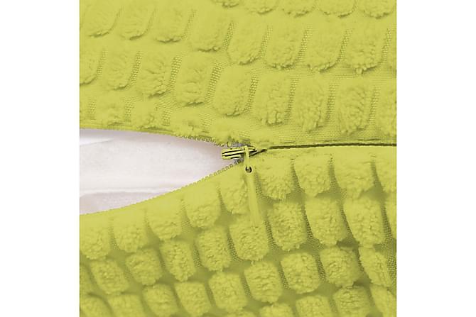 Kudde 2 st velour grön 45x45 cm - Grön - Inredning - Textilier - Prydnadskuddar