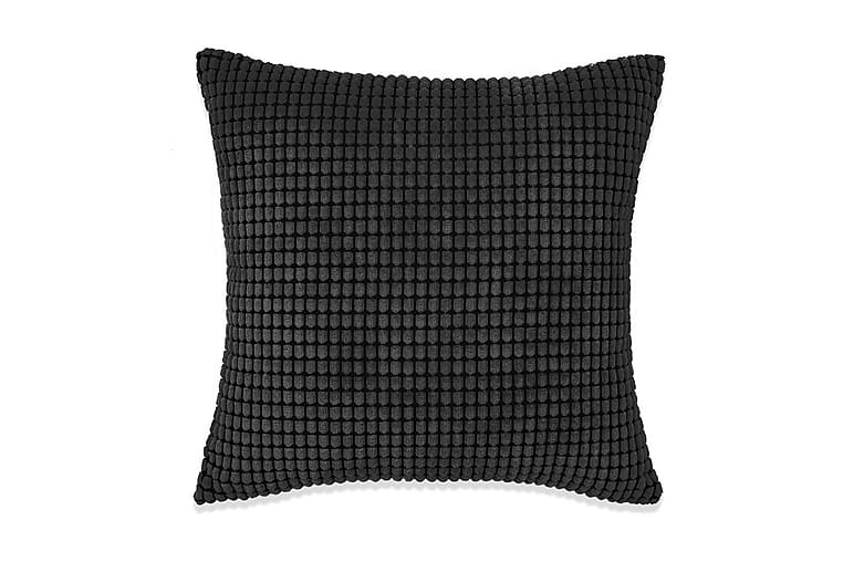 Kudde 2 st velour svart 45x45 cm - Svart - Inredning - Textilier - Prydnadskuddar