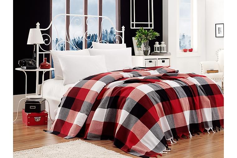 Överkast EnLora Home 200x240 cm - Svart|Röd|Vit - Inredning - Textilier - Sängkläder