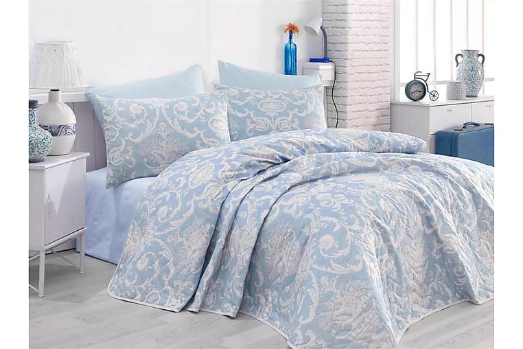 Överkast EnLora Home Enkelt 160x220+Kuddfodral Quiltat - Blå - Inredning - Textilier - Sängkläder