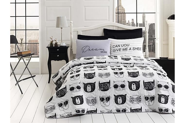 Överkast EnLora Home Enkelt 160x220+Kuddfodral Quiltat - Svart|Vit - Inredning - Textilier - Sängkläder
