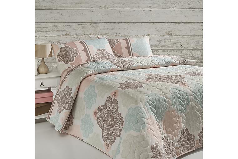 Överkast Eponj Home Dubbelt 200x220+2 Kuddfodral Quiltat - Beige Vit Multi - Inredning - Textilier - Sängkläder