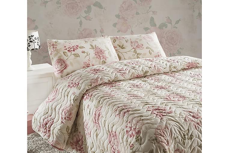 Överkast Eponj Home Dubbelt 200x220+2 Kuddfodral Quiltat - Rosa|Sand|Beige - Inredning - Textilier - Sängkläder