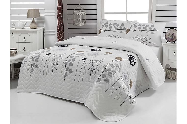 Överkast Eponj Home Dubbelt 200x220+2 Kuddfodral Quiltat - Vit|Grå|Svart|Brun - Inredning - Textilier - Sängkläder