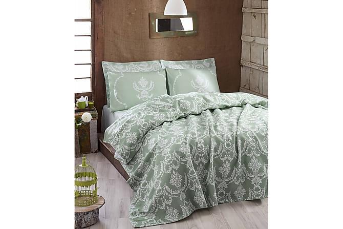 Överkast Eponj Home Dubbelt 200x235 cm - Grön|Vit - Inredning - Textilier - Sängkläder