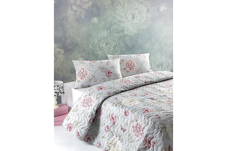 Överkast Eponj Home Enkelt 160x220+Kuddfodral Quiltat - Mint|Rosa|Beige - Inredning - Textilier - Sängkläder