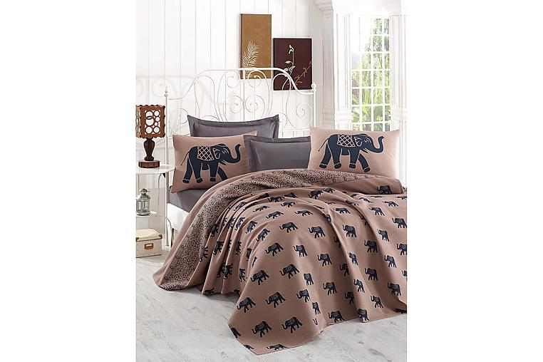 Överkast Eponj Home Enkelt 160x235 cm - Brun|Blå - Inredning - Textilier - Sängkläder