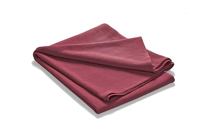 Överkast Stonewashed 260x260 cm Stripes bordeaux - ETOL - Inredning - Textilier - Sängkläder