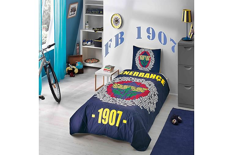 Överkast Taç Licensed Enkelt 160x220+Kuddfodral - Marin|Gul|Multi - Inredning - Textilier - Sängkläder