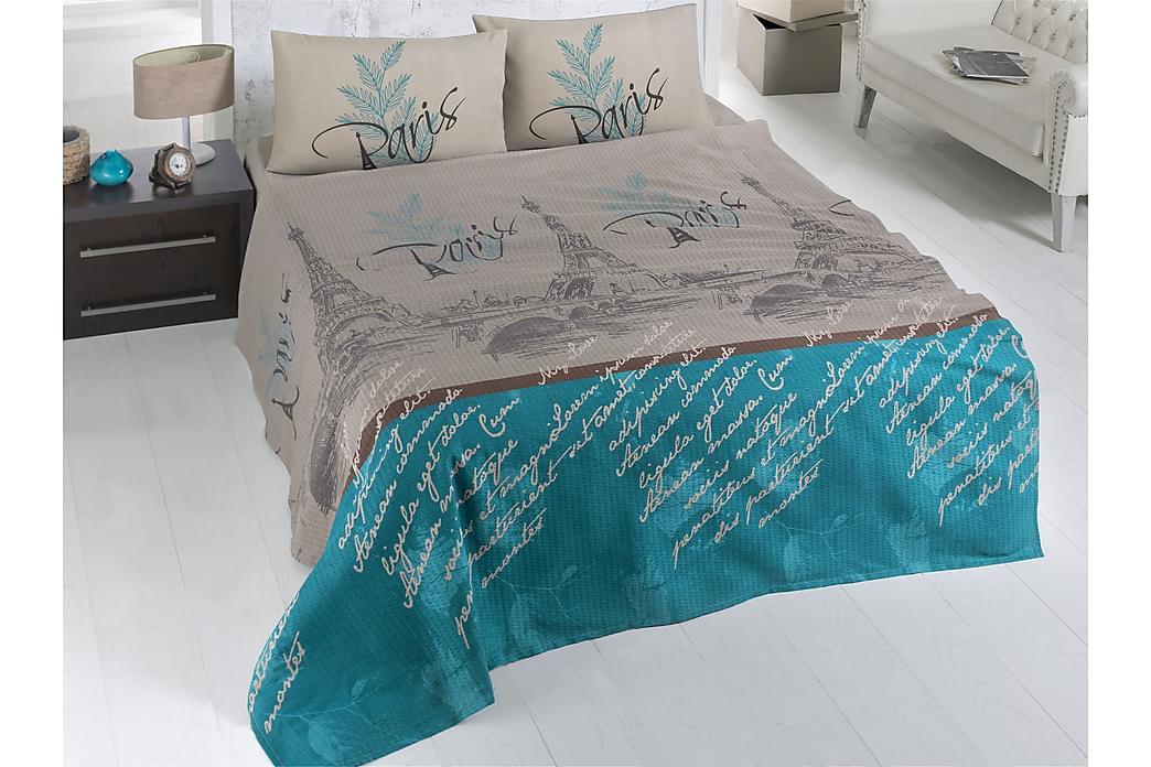 Överkast Victoria Dubbelt 200x230 cm - Beige|Blå|Vit|Svart - Inredning - Textilier - Sängkläder