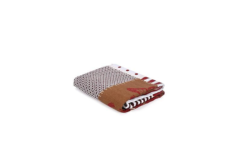 Överkast Victoria Dubbelt 200x230 cm - Röd Creme Multi - Inredning - Textilier - Sängkläder