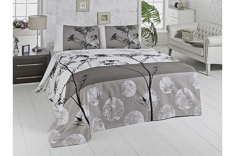 Överkast Victoria Dubbelt 200x230 cm - Vit Grå Beige Svart - Inredning - Textilier - Sängkläder