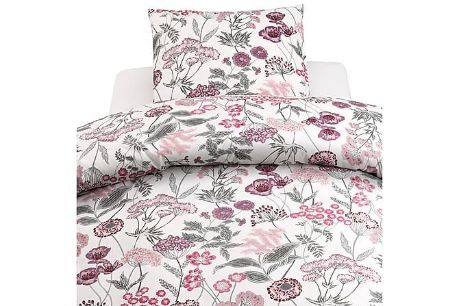 2-Dels Set Ängsblom Rosa/grå - Borganäs - Inredning - Textilier - Sängkläder