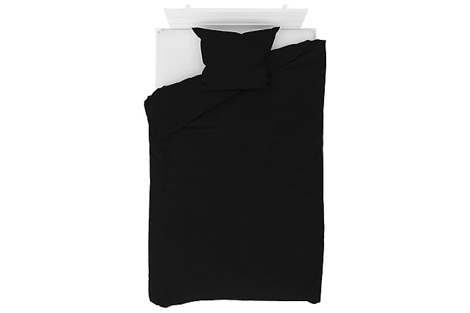 Bäddset 2 delar fleece svart 140x200/60x70 cm - Svart - Inredning - Textilier - Sängkläder
