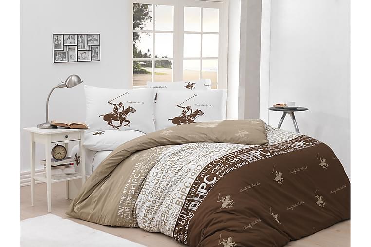 Bäddset Beverly Hills Polo Club Dubbelt 4-dels Ranforce - Brun Creme Vit - Inredning - Textilier - Sängkläder