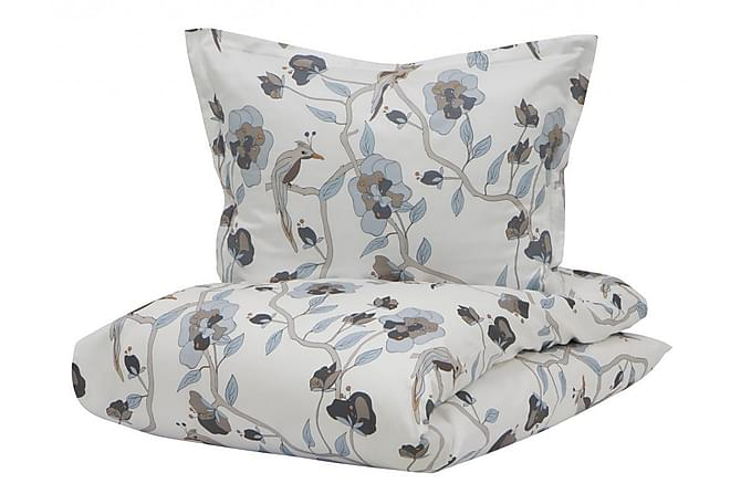 Bäddset Bird of Paradise 220x230 cm Satin Blå - Borås Cotton - Inredning - Textilier - Sängkläder