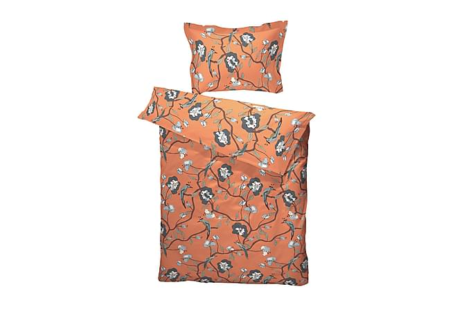 Bäddset Bird of Paradise 220x230 cm Satin Dusty Orange - Borås Cotton - Inredning - Textilier - Sängkläder